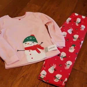 Carters Snowman Pajamas Set